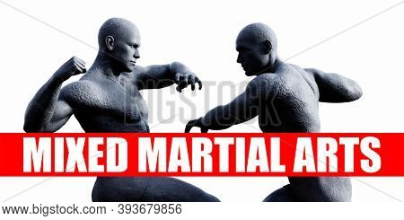Class Combat Fighting Sports Background 3d render