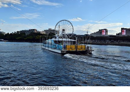 The Boat With Tourist In The Brisbane River