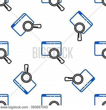 Line Search In A Browser Window Icon Isolated Seamless Pattern On White Background. Colorful Outline