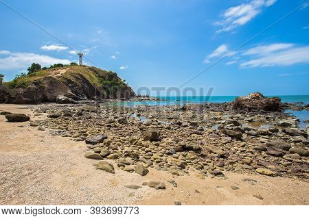 Summer Seascape On Tropical Koh Lanta Island In Thailand. Landscape Taken In Koh Lanta Yai National