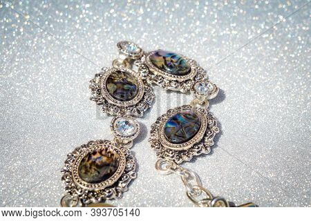 Silver Bracelet With Abalone Shell