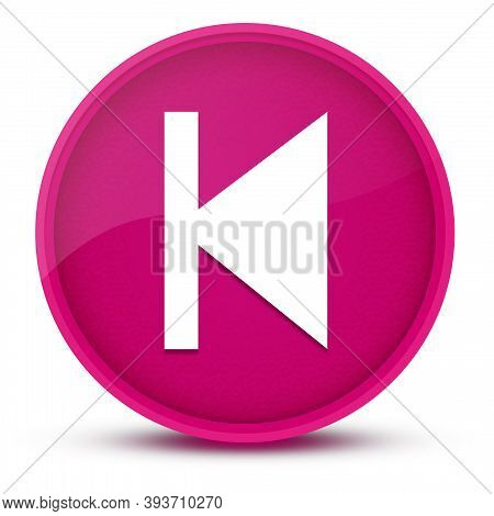 Previous Track Luxurious Glossy Pink Round Button Abstract Illustration
