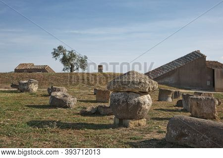 The Etruscan Necropolis Of Monterozzi (8Th Century B.c.) Is A World Heritage Site In Tarquinia, Cerv