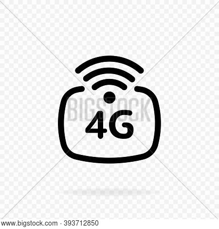 4g Lte Icon. 4g Network Wireless Systems And Internet. Communication Network. Wireless Mobile Teleco