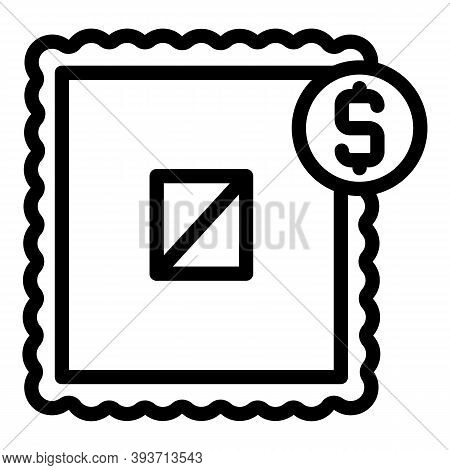 Auction Sale Icon. Outline Auction Sale Vector Icon For Web Design Isolated On White Background