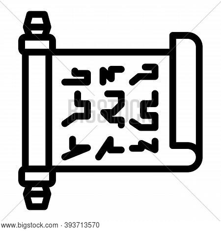Auction Contract Icon. Outline Auction Contract Vector Icon For Web Design Isolated On White Backgro