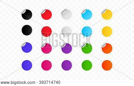 Colorful Round Labels. Set Of Blank Round Stickers. Empty Promotional Labels. Special Offer Labels S