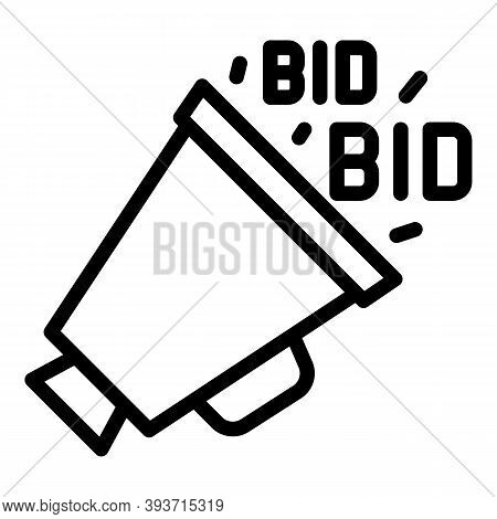 Real Time Bidding Icon. Outline Real Time Bidding Vector Icon For Web Design Isolated On White Backg