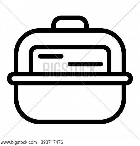 Lunch Box Icon. Outline Lunch Box Vector Icon For Web Design Isolated On White Background