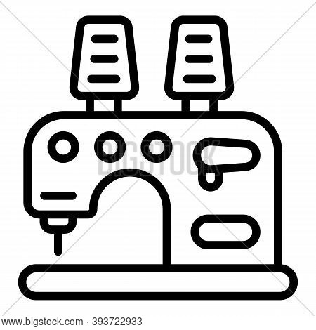 Sew Machine Icon. Outline Sew Machine Vector Icon For Web Design Isolated On White Background
