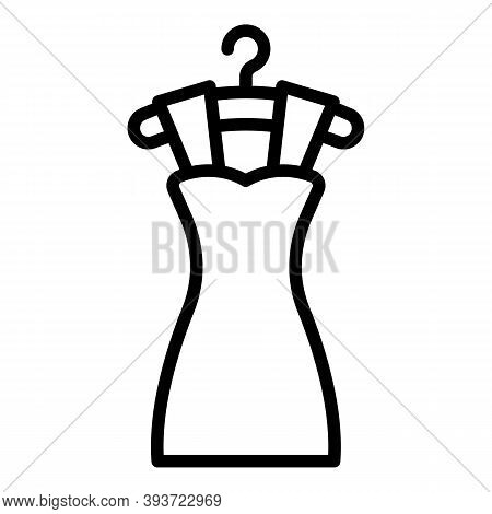 Dress Cloth Icon. Outline Dress Cloth Vector Icon For Web Design Isolated On White Background