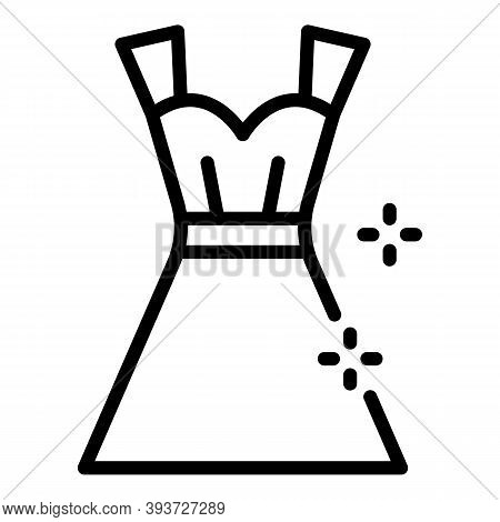 Clear Dress Icon. Outline Clear Dress Vector Icon For Web Design Isolated On White Background