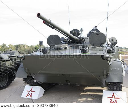 Rostov-on-don, Russia - August 28, 2020:  Bmp-3 Infantry Fighting Vehicle At A Military Training Gro