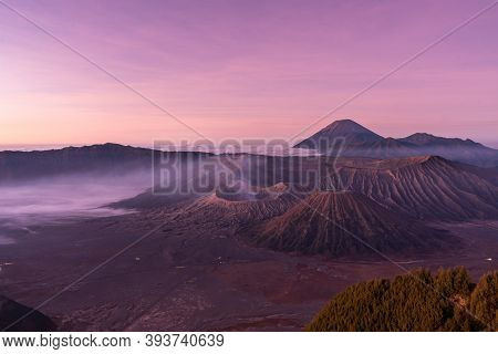 Sunrise At Mount Bromo Volcano In East Java, Indonesia