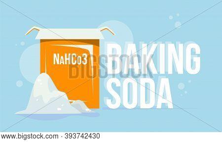 Baking Soda Illustration Flat Style Natural Cleaning