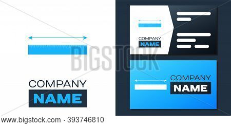 Logotype The Measuring Height And Length Icon Isolated On White Background. Ruler, Straightedge, Sca