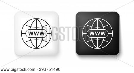 Black And White Go To Web Icon Isolated On White Background. Www Icon. Website Pictogram. World Wide