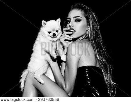 Beautiful Fashion Woman Looking At Camera. Beautiful Young Woman Close-up Portrait. Sensual Beauty W