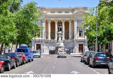 Madrid, Spain - June 2018: Cason Del Buen Retiro Museum (part Of Prado Museum )