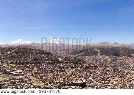 La Paz View From El Alto,bolivia. Bolivian Capital