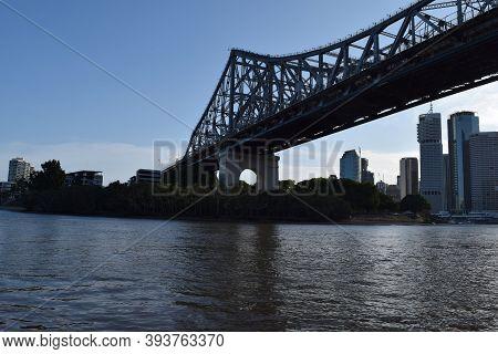 An Amazing Big Bridge Of Brisbane Conecting City On Brisbane River