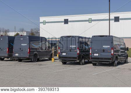 Indianapolis - Circa November 2020: Amazon Prime Delivery Van. Amazon.com Is Getting In The Delivery