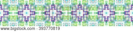 Lombok Textile. Abstract Kaleidoscope Print. Blue, White, Indigo, Denim Seamless Texture. Repeat Tie