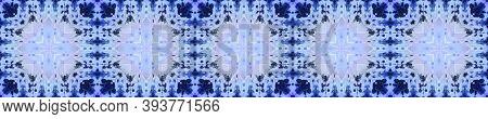 Aztec Rugs. Abstract Kaleidoscope Motif. Seamless Tie Dye Illustration. Ikat Russia Design. Indigo S