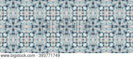 Tie Dye Texture. Traditional Backdrop.  Indigo And Black Textile Print. Rainbow Natural Ethnic Illus