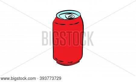 Metal Aluminum Beverage Drink Can. Ready For Your Design. Product Packing Vector Eps10.