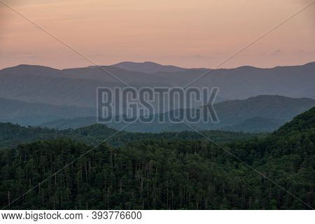Evening View From Foothills Parkway On The Eastern Side Of The Smokies