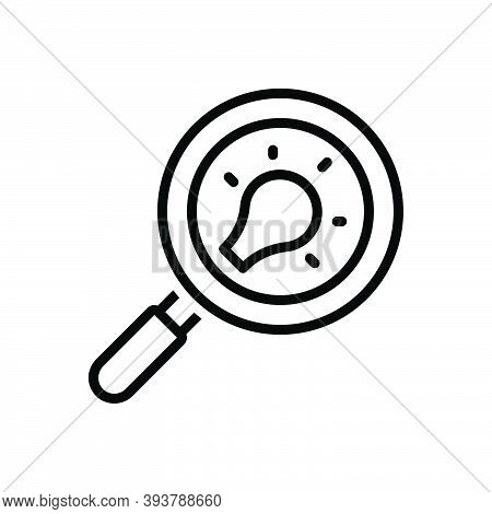 Black Line Icon For Discovery Detection Finder Search Quest Find Magnifying Analysis Inspection Loup