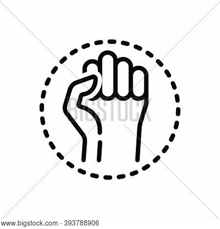 Black Line Icon For Resistance Resist Protest Opposition Aggressive Antagonism Struggle Battle Defia