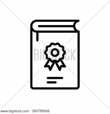 Black Line Icon For Most Majority Major-part Popular Famous Book Important Expensive Precious