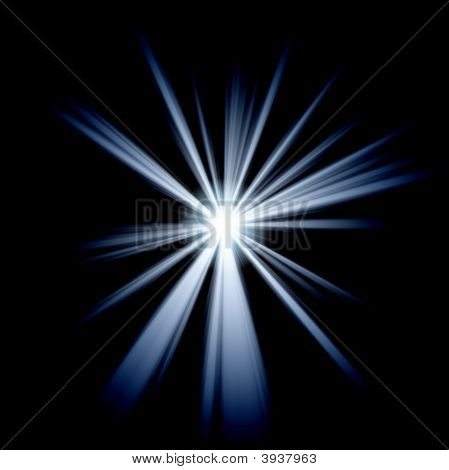 Irregular Blue White Star 2