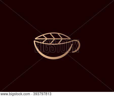 Elegant Gradient A Cup Tea Herbal Tea Mate Of Logo Icon Vector Design In Minimal Style. Creative Sol