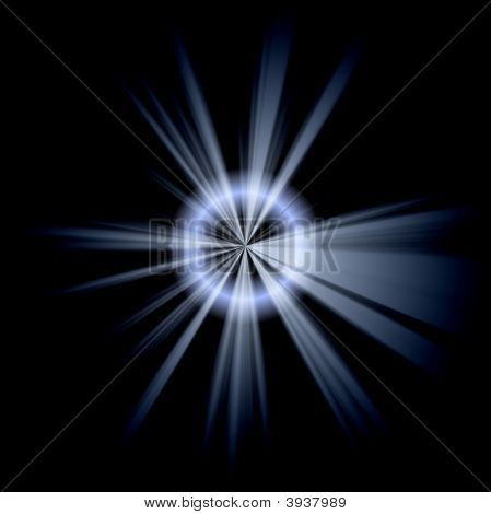 Irregular Blue White Star