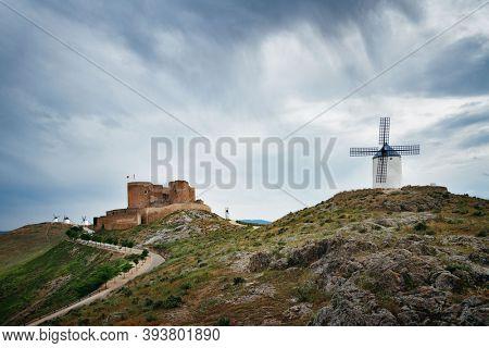 Windmill in Consuegra near Toledo in Spain