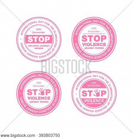 International Day For The Elimination Of Violence Against Women. Stop Violence Against Women Concept