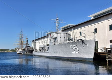 Karlskrona, Sweden - 26,05,2016 Swedish Military Torpedo Boat And Later Missile Boat, Now Moored As