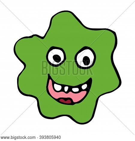 Cute Cartoon Monsters In Doodle Childlike Style. Character Icon. Vector Illustration.