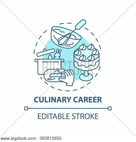 Culinary Career Concept Icon. Top Careers For Creative Thinkers. Cooking Food Education. Becoming Fa