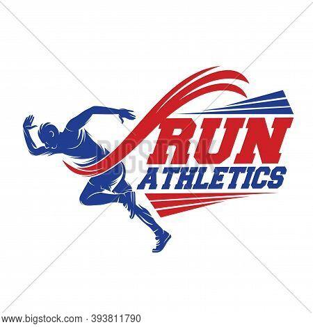 Sprinter Logo. Running And Marathon Logo Vector Template