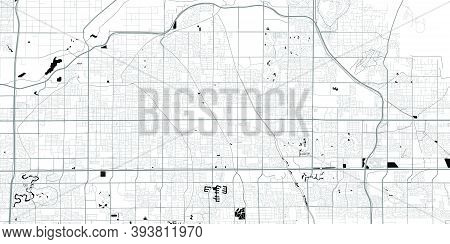 Urban City Map Of Mesa. Vector Illustration, Mesa Map Grayscale Art Poster. Street Map Image With Ro