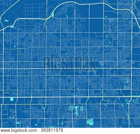 Detailed Map Of Mesa City Administrative Area. Royalty Free Vector Illustration. Cityscape Panorama.