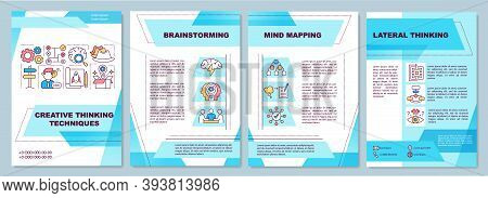 Creative Thinking Techniques Brochure Template. Brainstorming. Flyer, Booklet, Leaflet Print, Cover