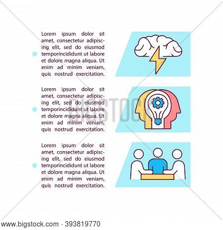 Creative Brainstorming Concept Icon With Text. Brain Activity. Generating New Ideas. Ppt Page Vector
