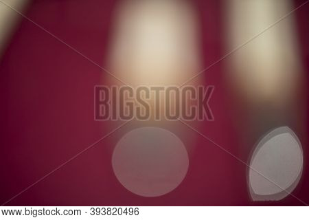 Absrtact Blurred Red Surface With Bright Bokeh