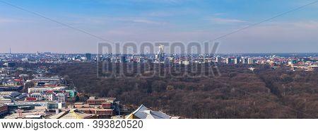 Panorama Of Berlin With The Tiergarten Park In Front