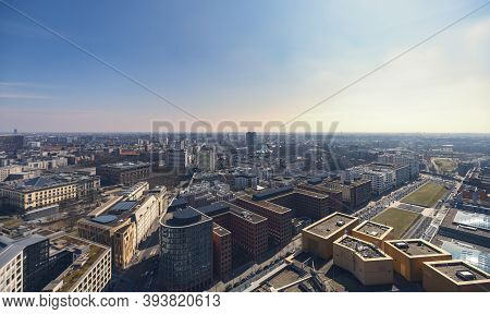 Evening Panorama Of Berlin With Potsdamer Platz